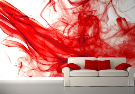 Red paint abstract background wallpaper mural